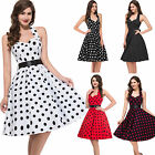 Girl Lady Vintage Style 50s Rockabilly Housewife Swing Retro Party Evening Dress