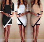 Fashion Womens Sexy Asymmetric Business Formal Evening Party Cocktail Mini Dress