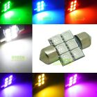 2X 31MM MULTI-COLOR 6 SMD 5050 LED Bulb for Car Festoon Dome Interior Lamp Light