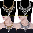 New Vintage Tribal Ethnic Chain White Pearl Statement Chunky Choker Bib Necklace