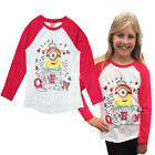 Girls Minions Long Sleeved Top Despicable Me Childrens Cotton Prom Queen T Shirt