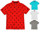 Boys Horse Print Polo T Shirt Kids Short Sleeve Summer Top New Age 2 - 13 Years