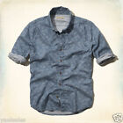 Hollister Abercrombie Mens Guys Button Down Dress Shirt Top Muscle Fit Authentic