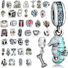 New Fashion Space Beads Fit European Charms 925 Sterling Silver Bracelets Chains