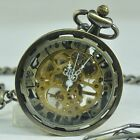 Kyпить Hand winding Mechanical Pocket Watch Gold Skeleton Steampunk Vintage Transparent на еВаy.соm
