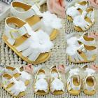 Baby Infant Girl Flower Crib Soft Sole Shoes Toddler Princess Flat Sandals M27