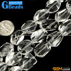 GBeads Freefrom Gemstone Crystal White Clear Quartz DIY Jewelry Making Beads15""