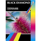 BLACK DIAMOND PREMIUM GLOSS / GLOSSY COATED A4 PHOTO PAPER 260GSM 50 SHEETS