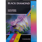 BLACK DIAMOND PREMIUM QUALITY A4 GLOSSY ADHESIVE STICKY PHOTO PAPER 108GSM