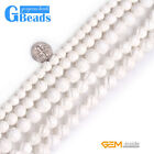 Flower Carved White Shell Natural Gemstone Beads DIY Jewelry Making Beads 15""