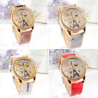 Women Watch 2015 Fashion Casual Watch Paris Style Tower Butterfly Leather Quartz