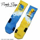 "GOLDEN STATE WARRIORS ""2015 CHAMPIONS"" Custom NIKE ELITE Socks (NBA Finals"