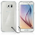 100% CRYSTAL CLEAR GEL CASE TPU COVER FOR SAMSUNG GALAXY S6 + SCREEN PROTECTOR