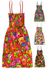Girls Bright Floral Print Summer Maxi Dress Kids Long Dresses New Age 2-12 Years