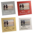 NEW Luxury Wedding Anniversary Photo Frame Gift 25th 40th 50th 60th Picture