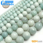 "Natural Amazonite Gemstone Round Beads Free Shipping 15"" 2mm 3mm 4mm 6mm 8mm"