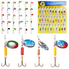 Lot 30pcs Trout Spoon Metal Fishing Lures Spinner Baits Bass Tackle Colorful USA