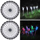 24 NEW Outdoor Garden Stainless Steel LED Solar Path Landscape Light Lamp Lawn