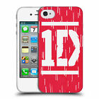 OFFICIAL ONE DIRECTION BAR FORM LOGO DESIGNS SOFT GEL CASE FOR APPLE iPHONE 4S