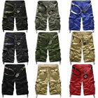 Fashion Mens Cargo Overall Shorts Army Combat Camo Work Pants Sports Trousers