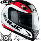HJC CS-14 CHECKER RED FULL FACE MOTORCYCLE MOTORBIKE BIKE HELMET