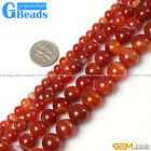 "Round Gemstone Sardonyx Stripe Red Onyx Agate Beads For Jewelry Making 15"" 4-20m"