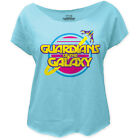 Guardians of the Galaxy Retro Logo LIC NWT Women's Dolman T-Shirt - Blue