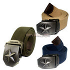 1x Fashion casual metal buckle Canvas Belt Green/Black/Red/Gray 8 Color SKU18