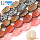 18x25mm Oval Twist Gemstone Jewelry Making Stone Loose Beads Strand 15""