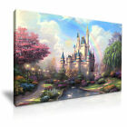 DISNEY Castle Canvas Framed Print Kids Room Deco ~ More Size