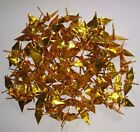 """100 Small Origami Cranes - Made of 7.5cm 3"""" Japanese Paper - Gold Silver"""