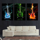 Unframed 3 Piece Abstract the Flame Guitar HD Wall Picture Home Decor Art Print