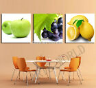 Unframed Oranges apples and grapes Painting Canvas Wall Art Picture  Decoration