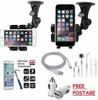 Windscreen Holder Mount With Free USB Car Charger Cable iPhone 6 6 Plus 5 5C 5S