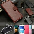 Flip Leather Cash Card Photo Slot Wallet Case Cover Stand For Samsung Galaxy S6