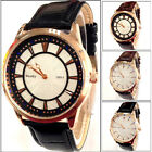 C8 US New Mens Luxury Watch Leather Strap Round Dial Fashion Display Watch