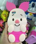 3D Cartoon Pink Pig Soft Silicone Back Cover Case For iPhone 6 / 6 Plus