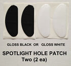 Police Vehicle Windshield Post Spotlight Hole Patch Cover 2 ea