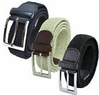 NEW MENS ELASTIC SUIT BELT IN BLACK, NAVY OR CREAM SIZES 32 - 60 (MEDIUM - 5XL)