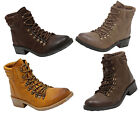 Mia ALEXA Womens Ankle Lace Up Combat Hiking Fashion Boots - Many Colors