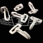 WHITE DOG HOOKS PLASTIC SNAP CLIPS FOR WEBBING 25mm CLIP, SPORT, STRAPS, HOOK