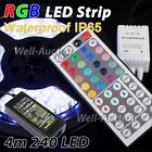 4m 5050 IP65 240 SMD LED RGB Strip + 44 Key Remote Controller + UK Power Supply