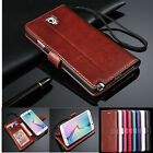 Luxury Flip PU Leather Wallet Photo Slot Cover Case Stand For Samsung /iPhone