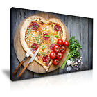 PIZZA Heart Tomato Restaurant Food Canvas Wall Art Picture Print ~ More Size