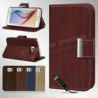 NEW LEATHER FLIP STAND WALLET CASE COVER FOR SAMSUNG GALAXY S6 EDGE + FREE GUARD