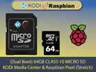 Dual Boot KODI & Raspbian PIXEL for Raspberry Pi PreLoaded Micro SD