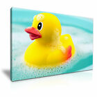 RUBBER DUCKS Yellow Bath Kids Canvas Wall Art Picture Print ~ More Size