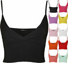 New Womens Strappy Crop Cross Over Ladies Wrap Bra Cami Vest Bralet Top 8-14