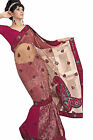Fancy Net, Faux Georgette Maroon colored Embroidered Sarees By triveni