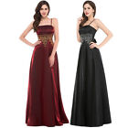 2015 NEW Long VINTAGE Evening Party Formal Ballgown Bridesmaid Prom Mother Dress